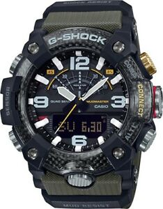 New Casio G-Shock Mudmaster Carbon Core Guard Green Mens Watch GGB100-1A3