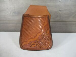 Shotgun Shell Ammo Bag Leather Tooled Belt Pouch