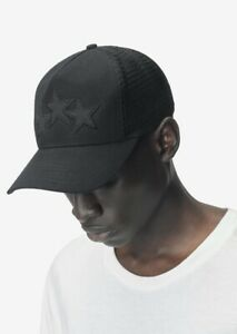 2019 SOLD OUT Amiri Black On Black Leather Star Trucker Cap Hat w Original Tags