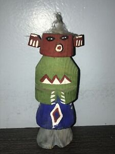 Vintage antique 1940's hand carved painted Hopi Kachina Doll
