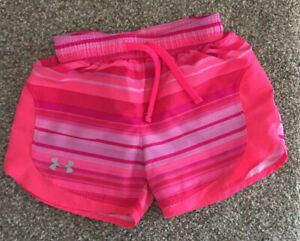 Girls Youth Under Armour Shorts Size S Small Loose Athletic Run HeatGear