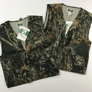 2 Game Hunter Camo Vests Size Youth L 1416 Mossy Oak Break Up Hunting Paintball