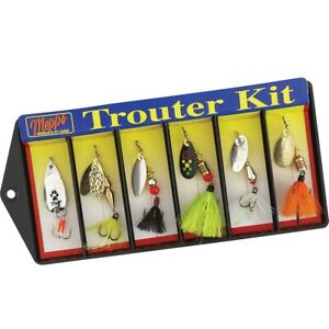 Mepps K1D Trouter Kit - Plain and Dressed Lure Assortment