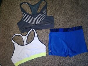 Under armour Womens Size Medium Pro Compression Shorts + Mixed Lot Of 2...