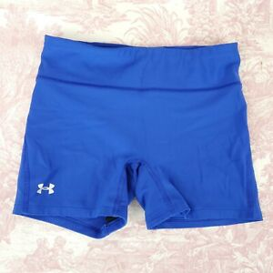 Under Armour Womens Running Compression Shorts Blue Size S Small