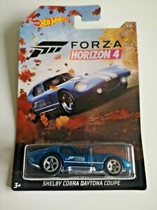 🚗 HOT WHEELS HW FORZA HORIZON 4 SHELBY COBRA DAYTONA COUPE blue