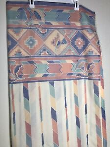 Vtg JP Stevens Queen Flat Fit Sheets NO IRON PERCALE Cotton Polyester Southwest