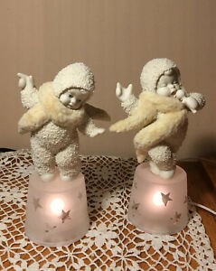 Snowbabies Born To Be A Star Dept 56 #56 69079 Lighted Bases Work Mic Singer Box $13.00