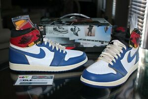 Deadstock Air Jordan Retro 1 High OG Union Los Angeles Storm Blue Toes Size 10.5
