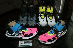 Deadstock Nike Air Presto Mid Acronym Racer Pink Yellow Black Sizes 11 - 13