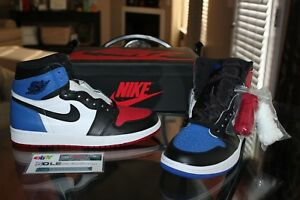 Deadstock Air Jordan Retro 1 High OG Top 3 Black Toe Royal Bred Sizes 9