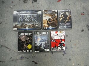 Metal of Honor Call of Duty PC game lot $12.50