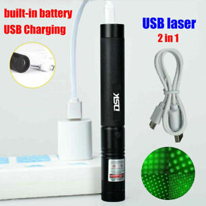 990miles Green Laser Pointer Pen Astronomy Star Beam USB Rechargeable Lazer 1mW $9.48