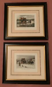 2 Hand Colored Steel Engravings By George Wright Professionally Framed $75.00