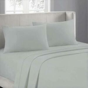 Soft Duvet Set Sheet Set Fitted Sheet Egyptian Cotton 600TC US Size Silver Solid