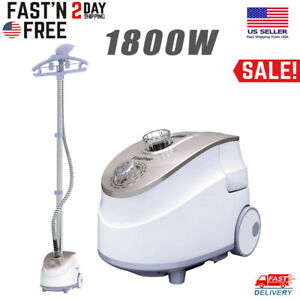 2 In 1 Standing Clothes Fabric Steamer Iron Steam Wrinkle Remove Garment Hanger