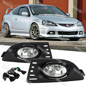 For Acura RSX 2005 2007 Clear Pair Bumper Fog Lights Lamps w WiringSwitch $39.95