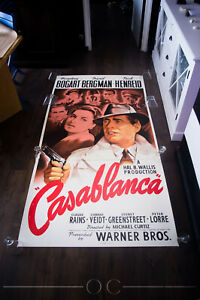 CASABLANCA 1942 S2 FINE ART LITHOGRAPH 41x81 US Three Sheet Movie Poster