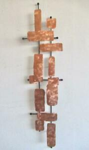 Large Modern Abstract Brushed Copper Wall Sculpture Eames Bowie Miller $150.00
