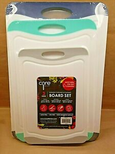 Core Non Slip Juice Well Carving & Cutting Board Set 3 Pack 11x8 14x10 16x12