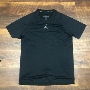 Nike AIR JORDAN STAY COOL Fitted TRAINING Shirt Black size M Dry-Fit Men's