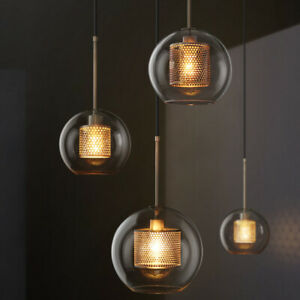 Modern Meal Ball Glass Pendant Light Chandelier Ceiling Lamp Fixture Kitchen
