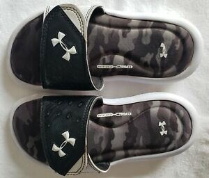 Under Armour Flip Flops Slip On Casual Flats Sandals Foam Kids Shoe Size 13 K