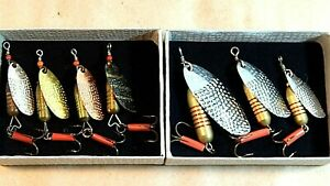 Pick ONE(1)x60-70's Vintage ABU Flax spinners assortment in gift box-usedxclnt+
