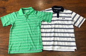 Under Armour Loose Heatgear Mens Small Polo Short Sleeve - LOT OF 2 TWO Shirts