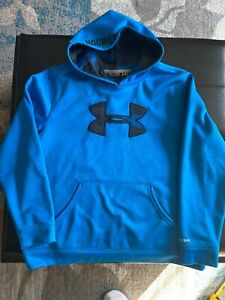 Under Armour Boys  Hoodie Blue Size YXL Blue Youth Extra Large