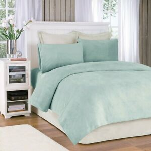 Luxury 3pc TWIN Aqua Blue Soloft Micro Plush Sheet Set