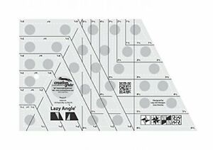 Creative Grids Lazy Angle Quilting Ruler Template CGR3754 $26.49