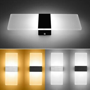 LED Modern Wall Light Up Down Cube Indoor Outdoor Sconce Lighting Lamp Fixture