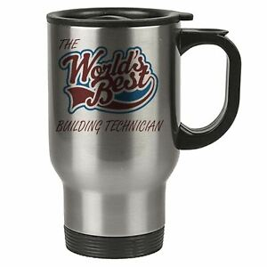 The Worlds Best Building Technician Thermal Eco Travel Mug Stainless Steel