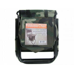 Camouflage Foldable Camping Chair with Zipper Gear Pouch - Set of 4