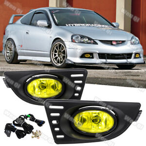 For Acura RSX 2005 2007 Yellow Lens Pair Bumper Fog Light Lamp w WiringSwitch $39.99