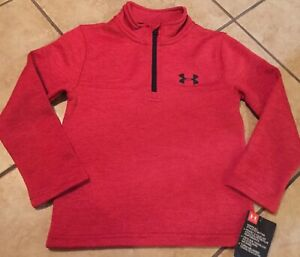 Boys Heathered Red Under Armour 1 4 Zip Pullover Jacket Size 4 NWT $16.99