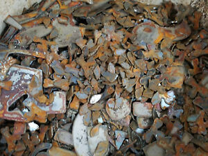 Lot of Misc Scrap Shapes Rusty Vintage Metal Craft Sign .25quot; 2quot; DIY Pieces