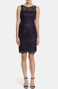 Adrianna Papell Lace Sheath Dress MSRP $189 Size 8 # 14B 449 Blm $20.34