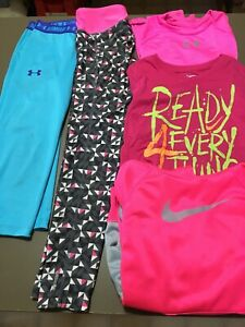 5 Pc Girls Size 78 Med 8 Athletic Clothing Under Armour Nike Mondetta #127