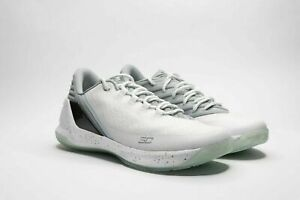 Under Armour Curry 3 Low Grey White Basketball Shoes 1286376-100 Men's Size 13
