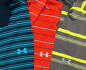 Under Armour Golf Polo Shirt Loose XL Lot (3) Excellent Condition