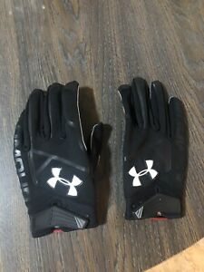 Under Armour UA Cold Gear Men's XL Black Football All Purpose Gloves