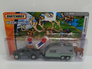 Matchbox Hitch 'N Haul Vacation Day Honda Ridgeline & Camping Trailer Gray HTF