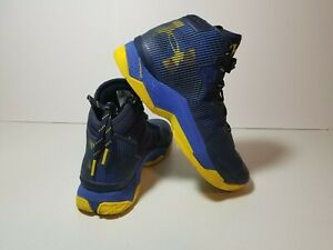 Under Armour UA Curry 2.5 Basketball Shoes Size 9.5 Blue Yellow 1274425 400