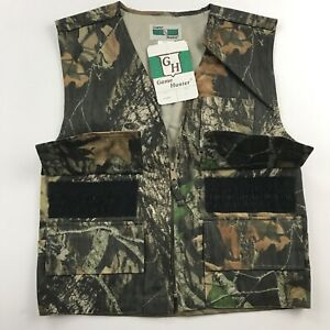 New Game Hunter Youth Size L 1416 Camo Vest Mossy Oak Hiking Hunting Paintball
