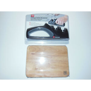 New Wusthof 2-Stage Knife Sharpener & Bar Board Cutting Honing 1655 Sharpening