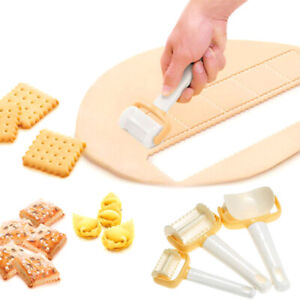 3 Pcs Set Rolling Cookie Pastry Dough Cutter Roller Slice Biscuit Cutting Blader $12.88