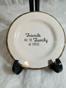 quot;Friends Are The Family We Choosequot; Plate Decor Decoration