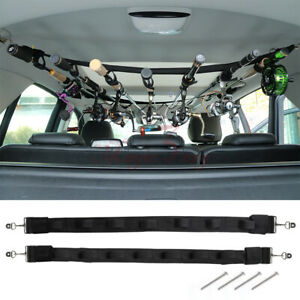 Upgraded Fishing Rod Holder Belt Strap Hold Up to 7 Rod Fixed For CarTruckSUV